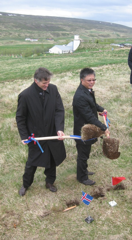 Breaking the ground ceremony