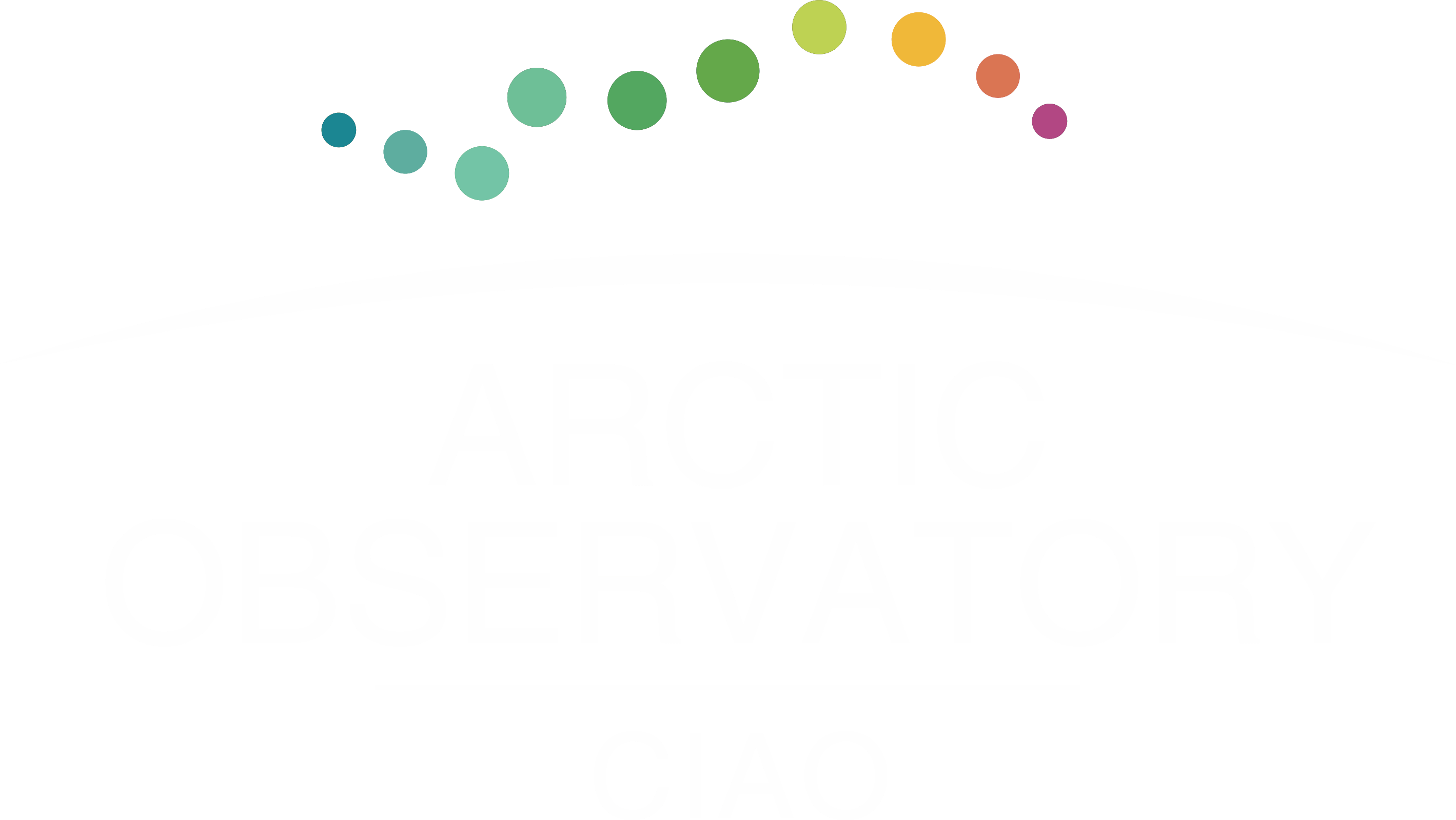 Arctic Observatory logo transparent white